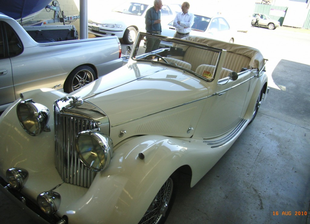 1947 Jag with white leather trim